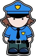 Police Officer as a graphic illustration