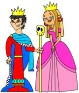 Valentine King And Queen Clip Art drawing