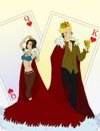King And Queen card drawing