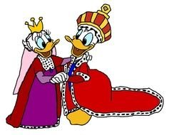 King and queen Donald Duck drawing
