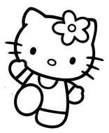COLORIAGE HELLO KITTY drawing