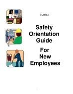 New Employee Orientation guide, drawing