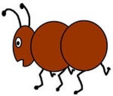 brown ant as a graphic image