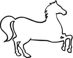 Running Horse Outline drawing