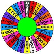 colorful Wheel Of Fortune, drawing