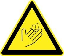 yellow hazard warning sign