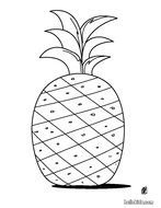 coloring page with pineapple