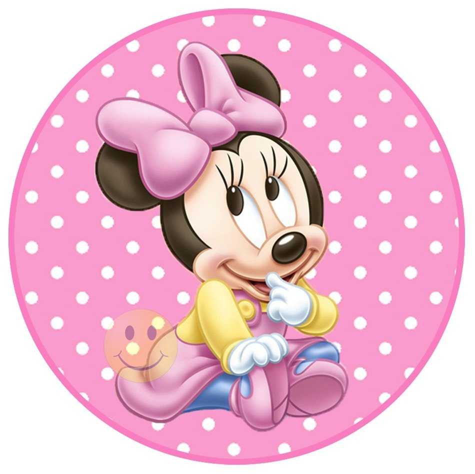 badge with Baby Minnie Mouse