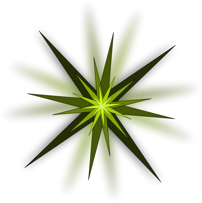 isolated green star