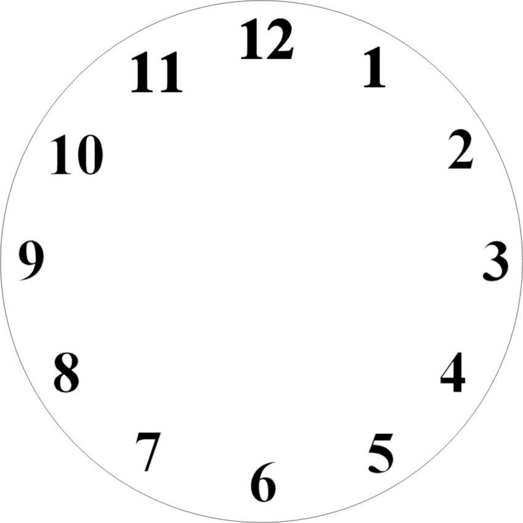 photograph relating to Printable Clock Face named Printable Clock Facial area Clip Artwork N9 free of charge impression