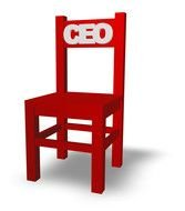Red 'CEO' chair clipart