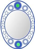oval mirror with patterns as a picture