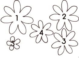 Paper Flower Templates drawing