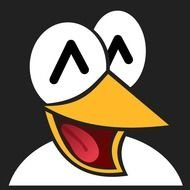 Happy pinguin face clipart