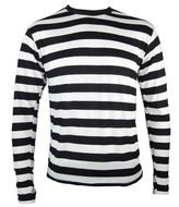 Beautiful black and white striped longsleeve