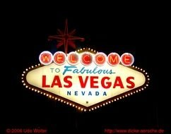 Las Vegas Welcome Sign Night