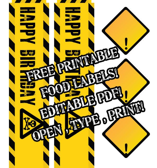 Free Printable Construction Party Signs Free Image