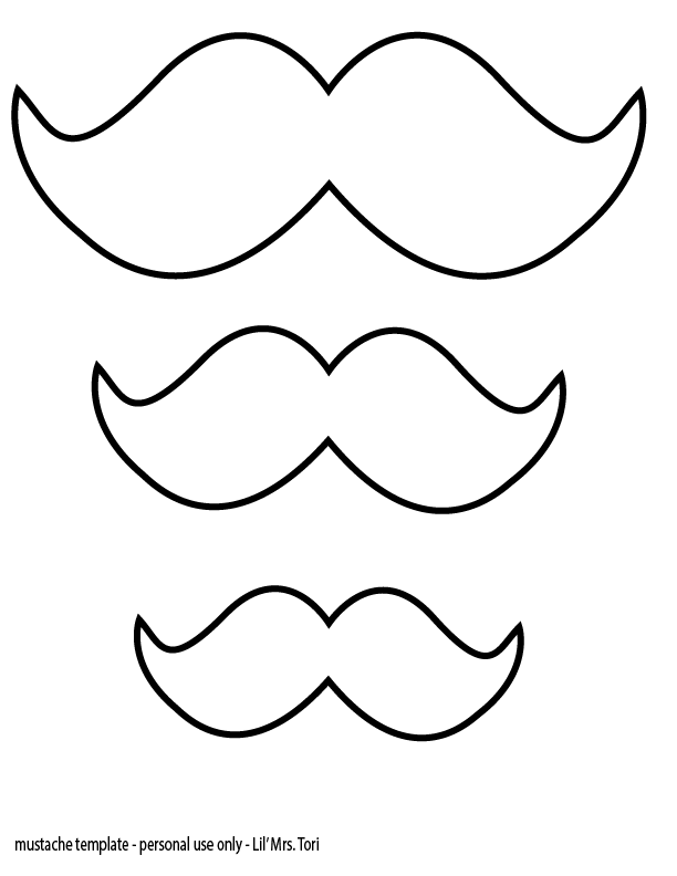 photo about Printable Mustache Template named Cost-free Printable Mustache Template N8 no cost impression
