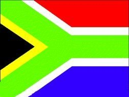 South Africa Flag darwing