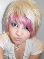 Pink And Blonde Short Hair