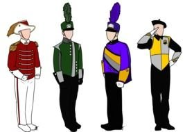 Marching Band Uniforms drawing
