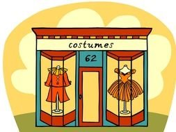Costumes as a graphic illustration
