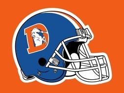 Denver Broncos Logo helmets drawing