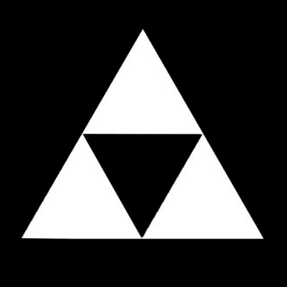 Zelda Triforce Symbol Black And White Free Image