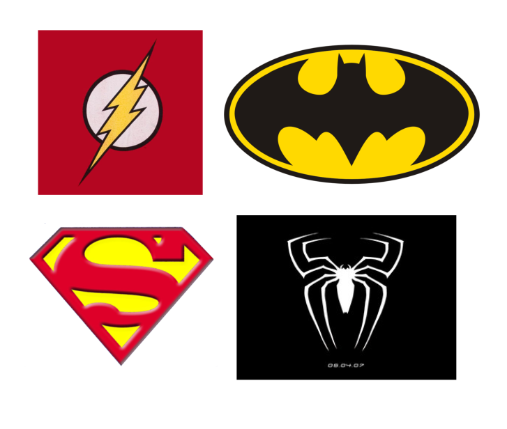 image relating to Printable Superhero Logos named Printable Superhero Trademarks N2 totally free picture