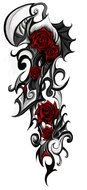 Tribal Rose Tattoos drawing