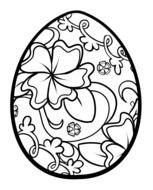 Easter Egg Coloring Pages For Adults darwing