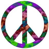 color Peace Sign Clip Art drawing