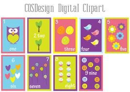 Number card Clip Art drawing
