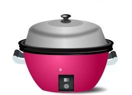 pink Rice cooker, drawing