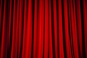 photo of a red theater curtain