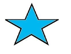 blue Star Shape drawing