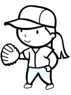 Softball Coloring Pages drawing