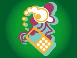 Mobile Phone Vector Graphic darwing