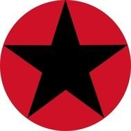 Black Stars Clipart Roudel Star Red Circle