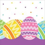 Easter Cheer Beverage Napkins Feature