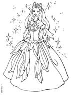 Princess Coloring Page drawing