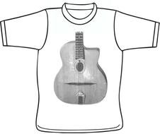 t-shirt with guitar print