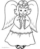 black and white picture of a christmas angel