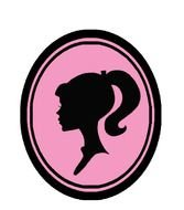Barbie Silhouette Logo drawing