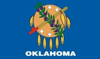 Oklahoma State Flag as a graphic illustration