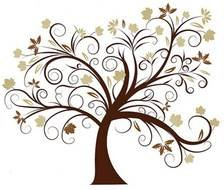 Tree Clipart Black And White Branches Family drawing