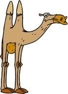 Colorful Animated Camel clipart