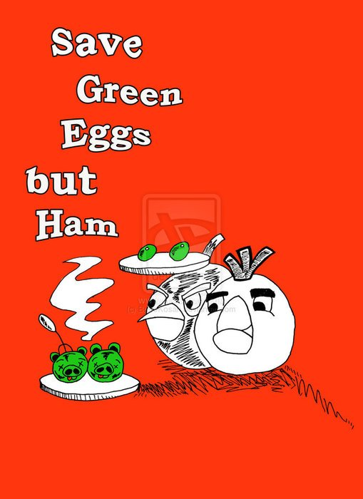 poster with eggs and ham