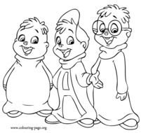 Alvin And Chipmunks Coloring Pages N2