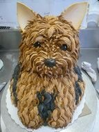Yorkie Birthday Cake